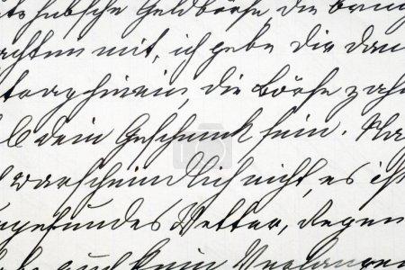 Handwriting vintage letter