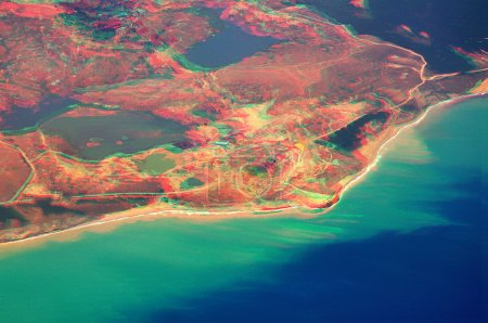3D anaglyph of turkish riviera