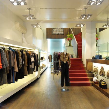 Interior of a boutique store