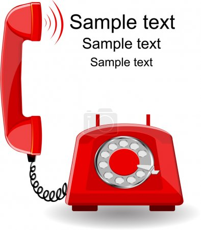 Illustration for Red phone - Royalty Free Image