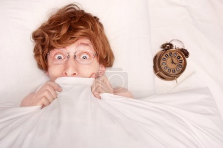 Photo for Funny guy under blanket - Royalty Free Image