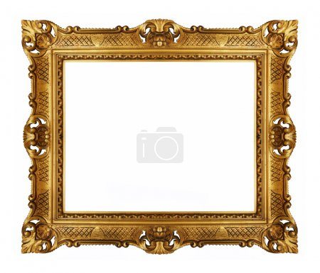 Photo for Golden vintage picture frame - Royalty Free Image