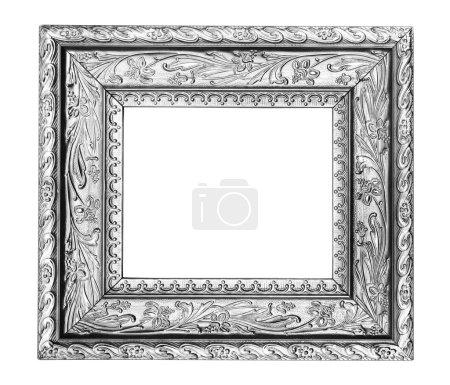 Silver ornate frame
