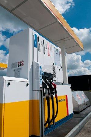 Gas station for fueling gasoline