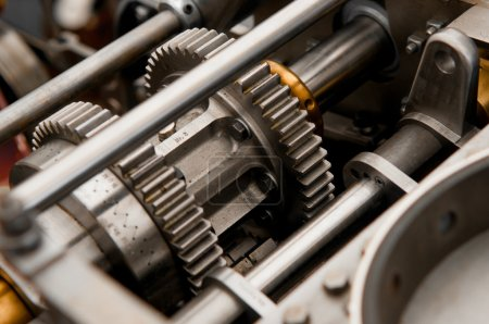 Photo for Detail of a metal gear clutch kit - Royalty Free Image