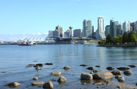 Vancouver BC from Stanley park, Canada.