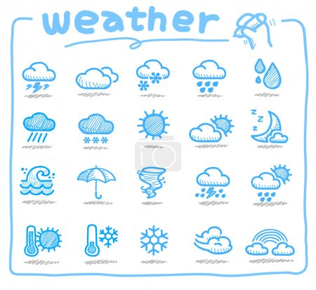 Illustration for Weather terms, weather, - Royalty Free Image