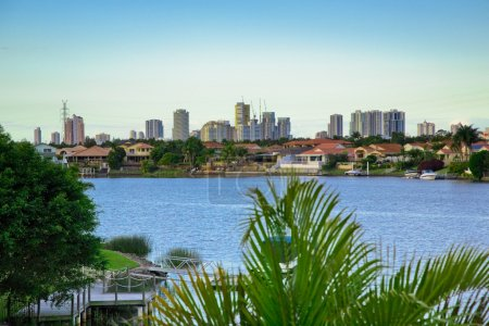 Balcony views from waterfront Mansion overlooking the canal and
