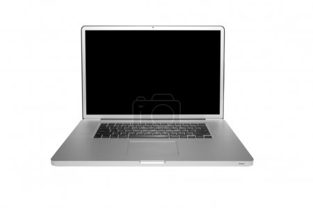 Photo for Modern computer laptop isolated on white with clipping path - Royalty Free Image