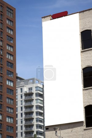 Photo for Blank Billboard on building in city downtown - Royalty Free Image