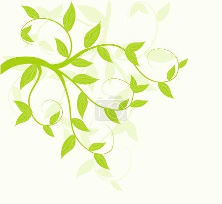 Illustration pour Abstrait vecteur vert feuilles fond floral . - image libre de droit