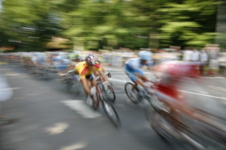 Photo for The cyclists riding by at the bicycle race Around Denmark - Royalty Free Image