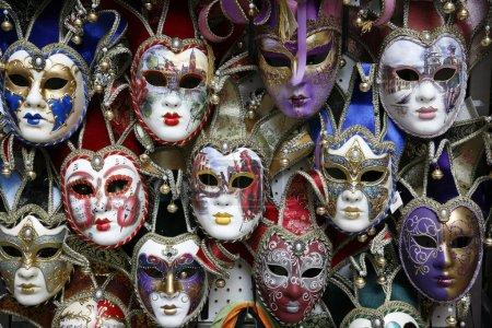 Beautiful carnival masks - Venice, Italy displayed...