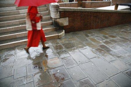 Venice in rain.