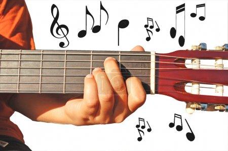 Photo pour Fantaisie de guitare - image libre de droit