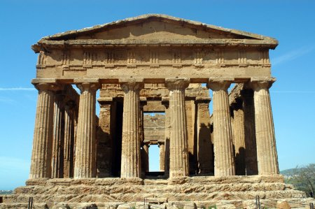 Photo for The temple of Concord in the Valley of the Temples in Agrigento - Royalty Free Image