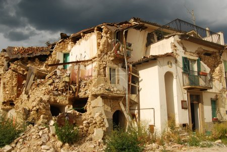 The rubble of the earthquake in Abruzzo