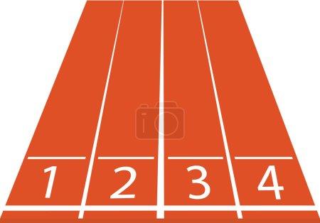 Athletics track illustration