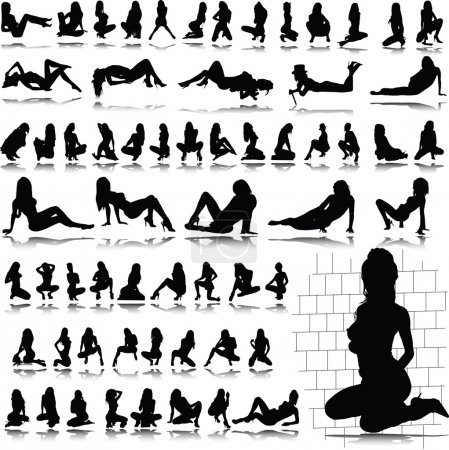 Hot sexy girl silhouettes