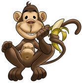 šťastná opice