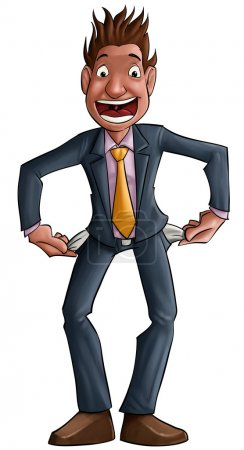 Photo pour L'homme, qui ressemble à un homme d'affaires, est désespéré, il a pas d'argent - image libre de droit