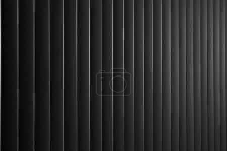 Photo for Abstract background with dark metal vertical lines - Royalty Free Image