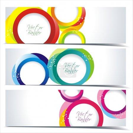 Foto de Banner abstracto colorido diseños determinados - Imagen libre de derechos