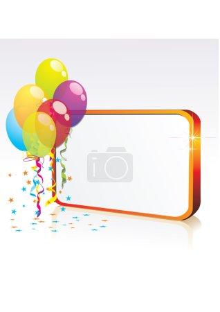 Illustration pour Illustration pour carte joyeux anniversaire avec ballons - image libre de droit