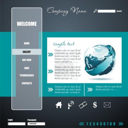 Grey Modern Website Design