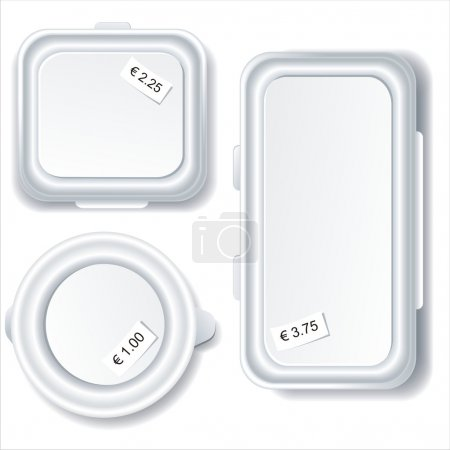 Illustration for Plastic food storage containers isolated on white background. - Royalty Free Image