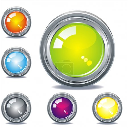 Illustration for Easy to edit web buttons - Royalty Free Image