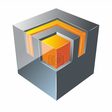 Illustration for Vector abstract glass cube - Royalty Free Image
