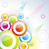 Abstract vector background with color circles and blots