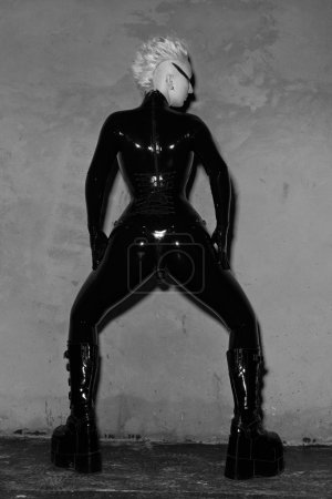 Fetish Mistress in Black Latex Catsuit