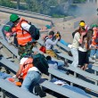 Various rescue teams aid victims in this community mock disaster drill