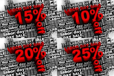 Conceptual banner for the labor day sale
