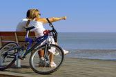Couple and Bike