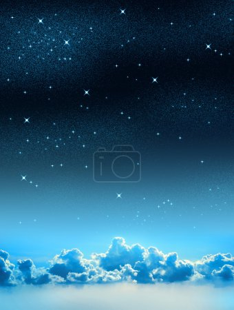Photo for Beautiful starry sky background with some clouds - Royalty Free Image