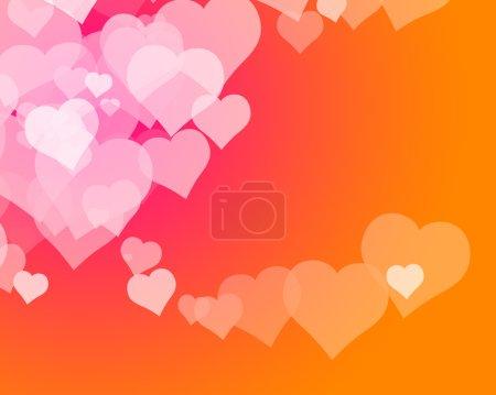 Photo pour Illustration de plusieurs coeurs formant des motifs colorés - image libre de droit