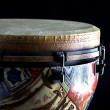 African djembe conga drum isolated up close on its...
