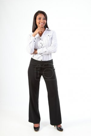 Black business woman standing