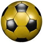 Fußball gelb-schwarz football yellow-black...