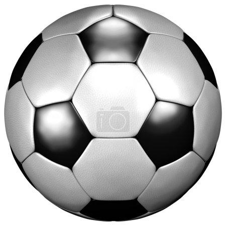 Fußball weiß-schwarz football white-black...