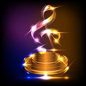 Vektorové neon hudební nota