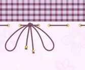 Pink checkered background with lace
