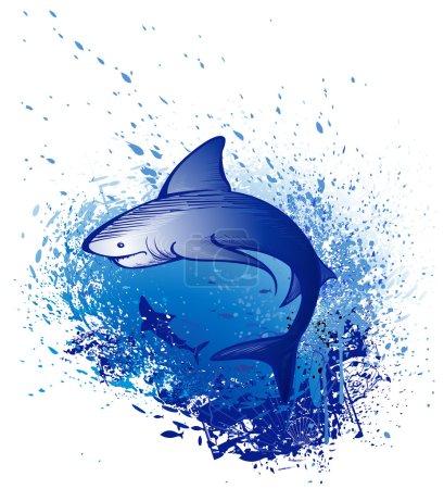 Emerges white shark