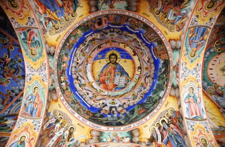 Jesus fresco Rila Monastery