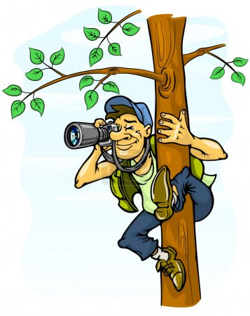 Paparazzi photograph from a tree