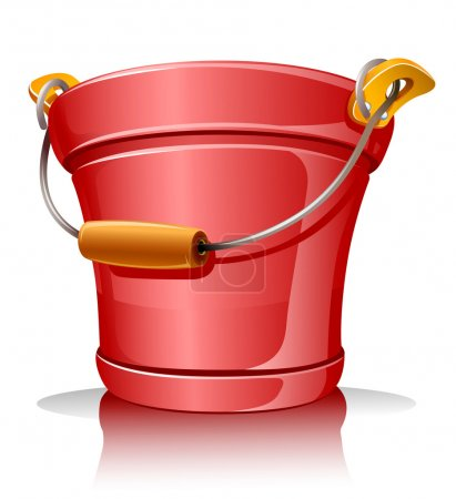 Red metallic bucket