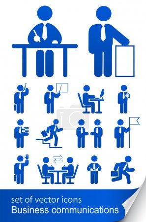 Illustration pour Définir l'icône de l'entreprise informationnelle illustration vectorielle isolé sur fond blanc - image libre de droit
